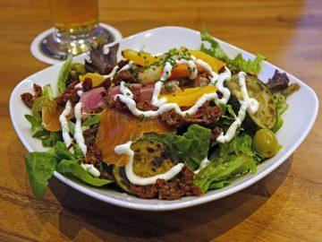 salad de saumon fumé Restaurant Les Tables de Breughel Mouscron